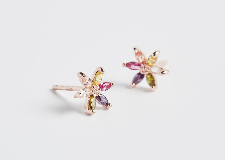 Colorful Flower Blossom Earring