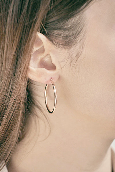 Hoop Ring Pipe Earring (S)