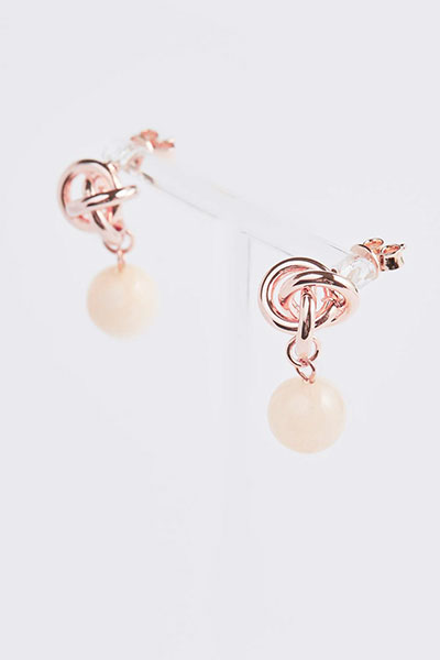 Wave Flower Ball Earring