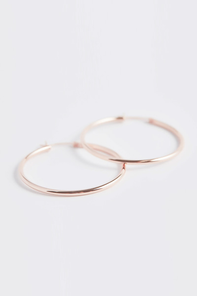 Hoop Ring Pipe Earring (M)
