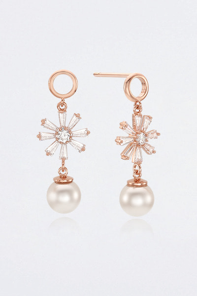 Snow Ring Pearl Earring(윤진이,채경 착용)