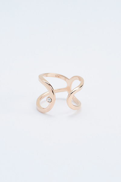 Bold Curve Open Ring (유진 착용)