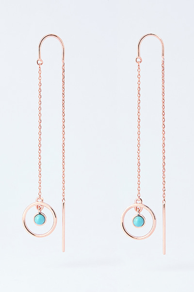 Aqua blue Drop Earring