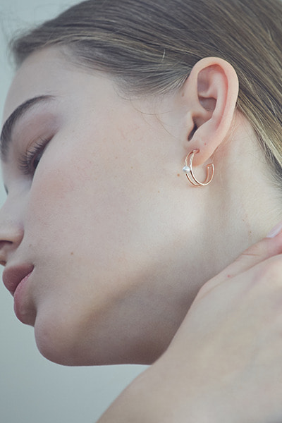 Double Lined Hoop Earring