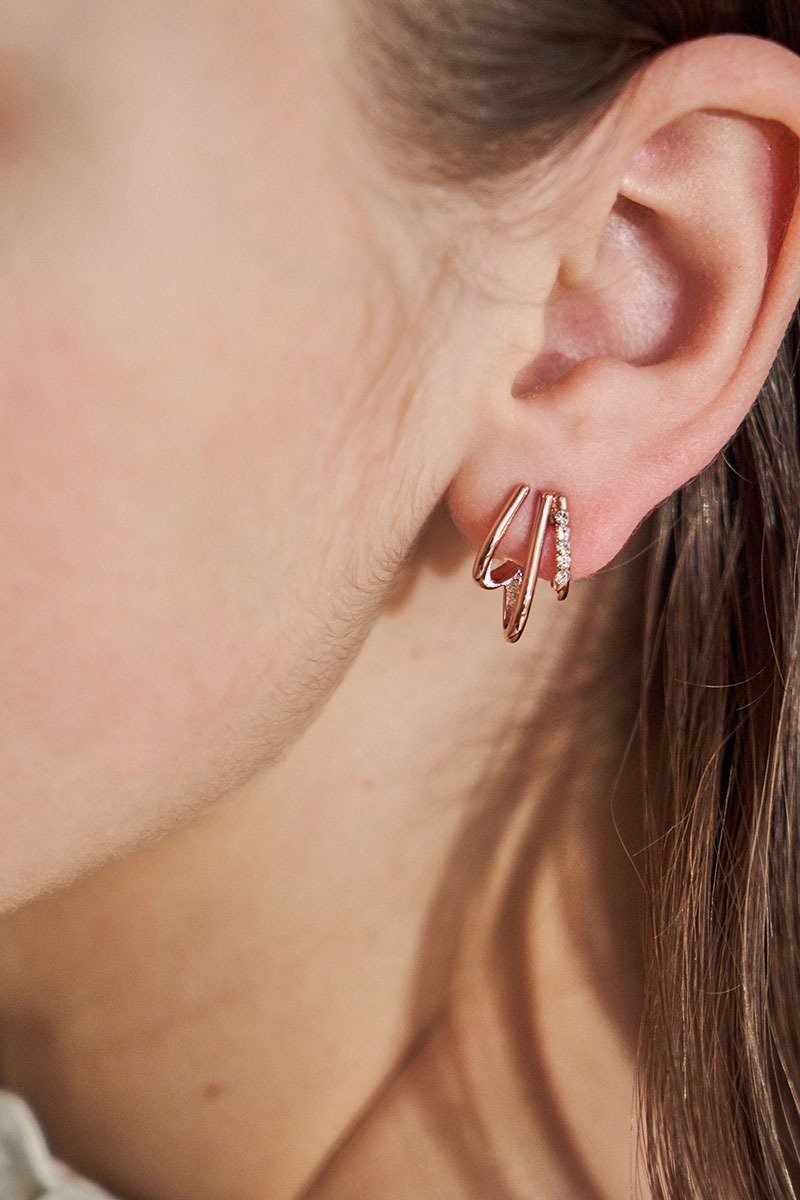 Three Hooks Earring