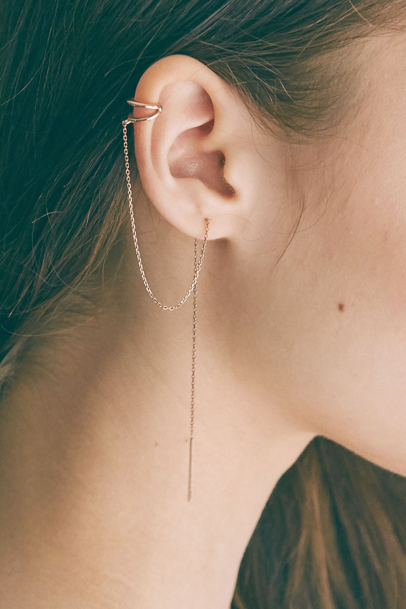 Light Chain Ear Cuff (전미도 착용)