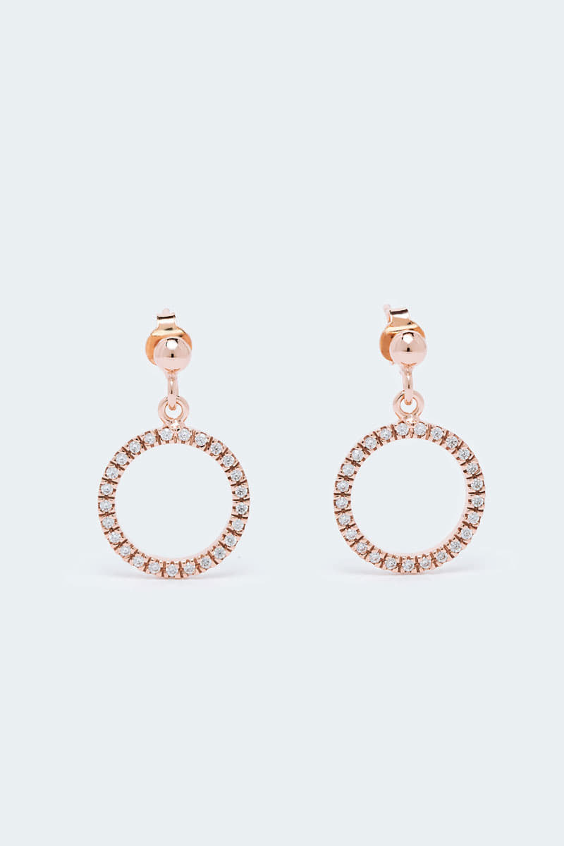 Ring Drop Stone Earring