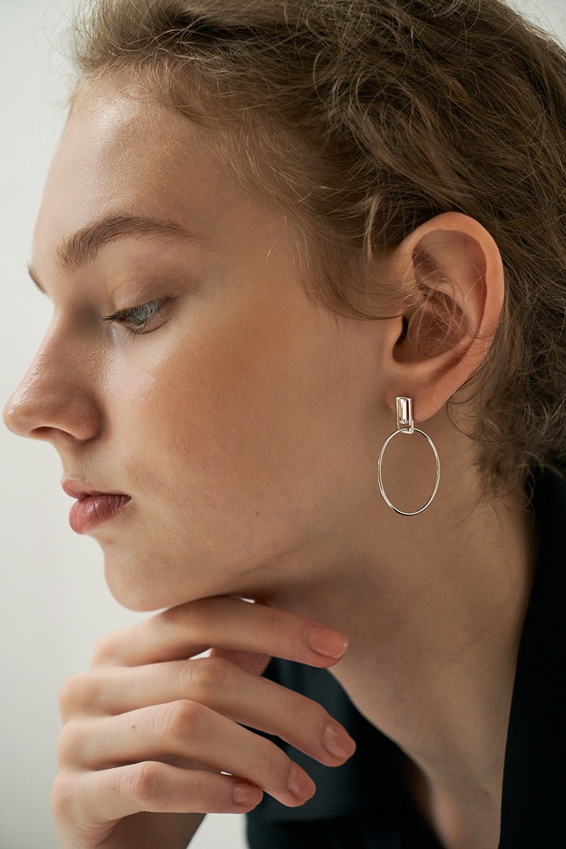floating square earring